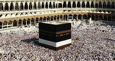 Ka'aba is the most scared site for pilgrims to Mecca.