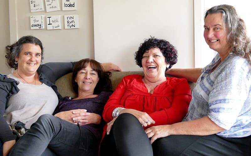 Bec Heyward, Karen Maplesden, Ila Northe and Julie Kinloch