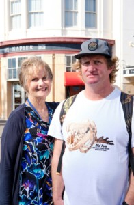 """Barbara and Dave (Sydney) have done a cruise to NZ before – """"We love New Zealand."""" They say cruise is """"a good, easy holiday; everything provided, everything catered for by amazing, attentive staff."""""""